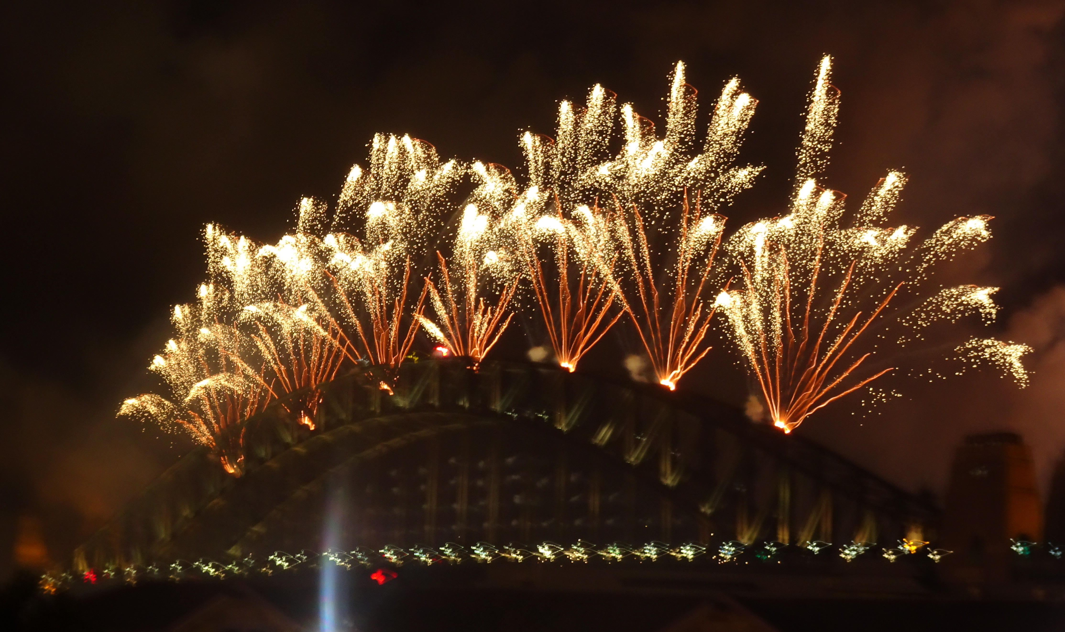 Fireworks on the Harbour Bridge in Sydney