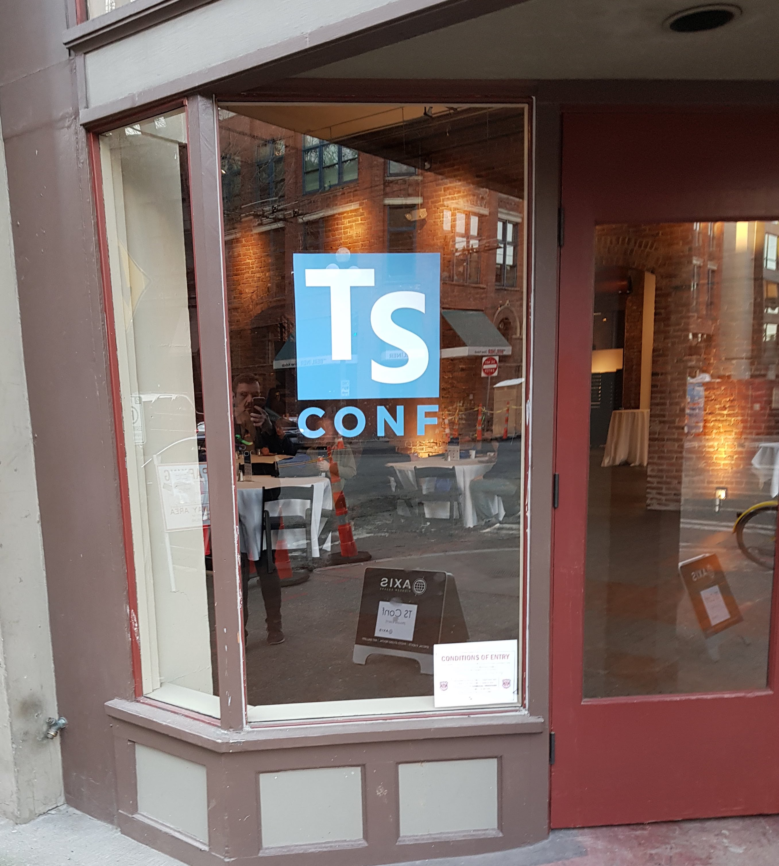 Entrance to TSConf at Axis in Seattle